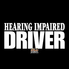 Hearing Impaired Driver Vinyl Sticker Car Truck Window Safety Visible Warning Ebay