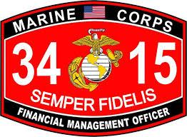 Amazon Com Financial Management Officer Marine Corps Mos 3415 Usmc Military Window Car Bumper Sticker Vinyl Decal 3 8 Automotive
