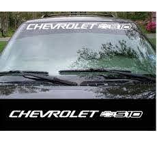 Chevy Chevrolet S 10 S10 Windshield Banner Decal Sticker Custom Sticker Shop