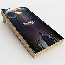 Amazon Com Skin Decals Vinyl Wrap For Cornhole Game Board Bag Toss 2xpcs Darth At Death Star