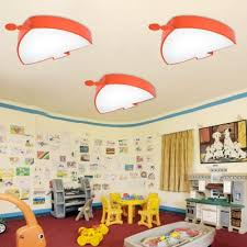 Orange Fish Shape Ceiling Light Acrylic Decorative Led Flush Mount Light For Children Kids Room Onlywonderful Com