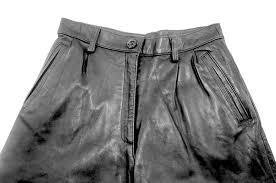 womens leather shorts uk 8 blue 17
