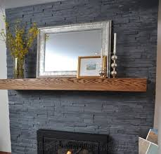 stone wall cladding panel fireplace