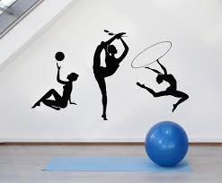 Vinyl Wall Decal Athletic Girls Gymnast Sports Club Artistic Gymnastic Wallstickers4you