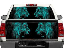 Product Lion Lions Predator Carnivore Cat Cats Predator Rear Window Or Tailgate Decal Sticker Pick Up Truck Suv Car Rear Window Decals Back Window Decals Rear Window
