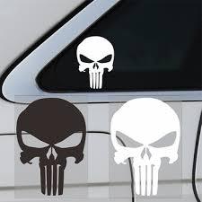 10cmx14cm Punisher Skull Blood Vinyl Car Decals Stickers Motorcycles Decoration For Volkswagen Polo Passat B5 B6 Car Accessories Renadawawhuki44