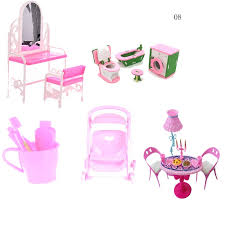 Furniture Set Dolls Baby Kids Room Play Toy Furniture For Doll Gift Simulation Miniature Wooden Furniture Toy Pretend Doll House Furniture Toys Aliexpress