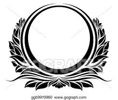 black circle frame eps clipart