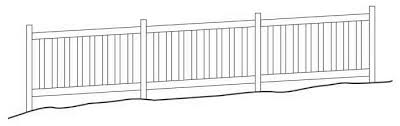 How To Install Vinyl Fence Sections On Uneven Terrain