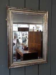antique french silver mirror c 1880