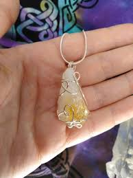 citrine necklace yellow quartz necklace