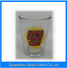 China Transparant Pussy Shot Wine Jar Whisky Cup With Decal Printing China Wine Glass And Tourist Souvenir Price