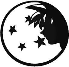 Amazon Com Dbz Dragon Ball Z Super Saiyan Four Stars Goku Silhouette Vinyl 5 5 Inches Color Black Decal Laptop Tablet Skateboard Car Windows Sticker Computers Accessories