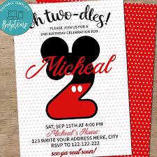 Invitacion De Cumpleanos De Cualquier Edad Disney Minnie Mouse