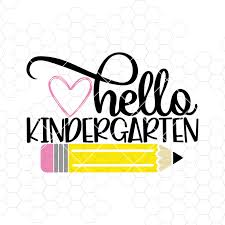 Back to school, Kindergarten svg, hello by MisaNYC on Zibbet