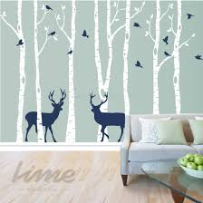 Birch Tree Wall Decal Deer Wall Ideas Lime Decals