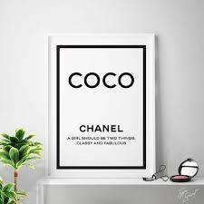 coco chanel print chanel printable art chanel quotes chanel