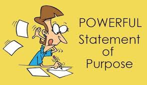 write an effective statement of purpose