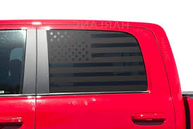 Amazon Com American Flag Decals For Ram Truck 1500 Crew Cab In Matte Black For Side Windows Dc2a Handmade
