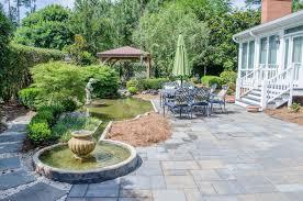 backyard flower garden fountain