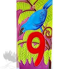 Ceramic Letterbox Tile Birds 9 Pohutukawa Gallery