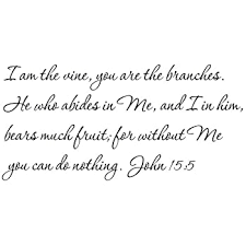 Amazon Com Susie85electra I Am The Vine You Are The Branches John 155 Wall Decal Home Kitchen