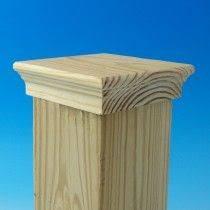 Boulevard Inset Demi Top Post Cap By Acorn Pressure Treated Pine 3 5 8 Deck Post Caps Post Cap Deck Posts