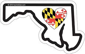 Amazon Com Maryland Sticker Md State Shaped Decal Vinyl Heart Heart Apply To Water Bottle Laptop Cooler Car Truck Bumper Tumbler Baltimore Flag Crab 301 Arts Crafts Sewing