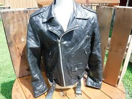 fmc black leather motorcycle jacket