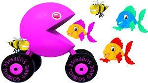 Aprende los Colores con Pacman y Pescado - Video Educativo para ...