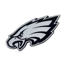 Fanmats Nfl Philadelphia Eagles Chromed Metal 3d Emblem 21386 The Home Depot