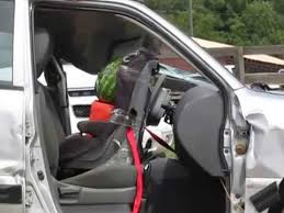 air bag deployment with car seat you