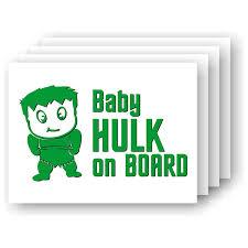 Amazon Com Baby Hulk On Board Vinyl Car Decal Handmade
