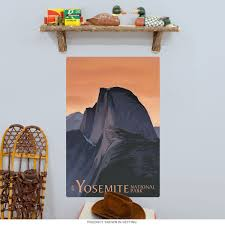 Yosemite National Park Half Dome Wall Decal At Retro Planet
