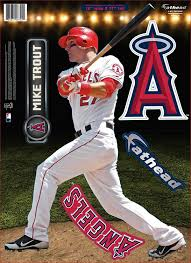 Fathead Mlb Los Angeles Angels Mike Trout Teammate Wall Decal 12 X 17 Inches Amazon Co Uk Sports Outdoors