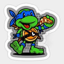Vintage Leonardo Teenage Mutant Ninja Turtles Sticker Teepublic Uk