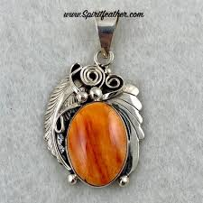 spiny oyster and sterling silver pendant