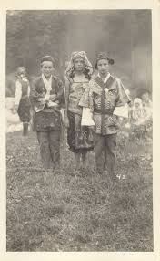 Priscilla Kennedy and two boys at the 1923 Maverick Festival - Woodstock  Public Library District - New York Heritage Digital Collections