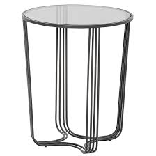 thurston glass side table large in