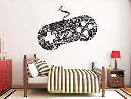 Amazon Com Gamer Game Wall Decals Controller Stickers Home Decor Customized For Kids Bedroom Vinyl Wall Art Bo2030 Baby