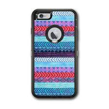 Skin Decal For Otterbox Defender Iphone 6 Plus Case Aztec Blue Tribal Chevron For Sale Online