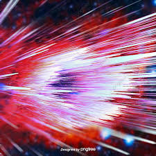 النجوم تتحرك في سرعة الضوء الأحمر 3d ستيريو ديناميكية تأثير