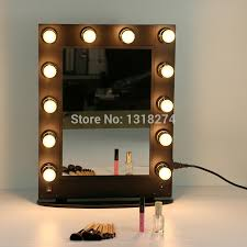 hollywood style makeup mirror with