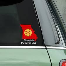 Show Me Pickleball Club Missouri Pickleball Decal Bumper Sticker Pickleball Xtra