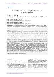 pdf determination of factors affecting