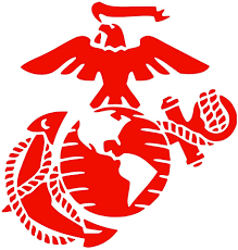 Amazon Com Usmc Seal Pick Color Vinyl Transfer Sticker Decal For Laptop Car Truck Window Bumper 5in X 4 8in 2 Pack Red Arts Crafts Sewing