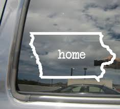 Iowa State Home Outline Ia Usa America Car Vinyl Die Cut Decal Sticker 07037 Ebay