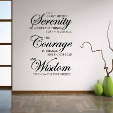 Inspirational Quotes Wall Stickers Home Decor Living Room Serenity Courage Wisdom Wall Art Sayings Decal Murals Bedroom Z872 Wall Stickers Aliexpress
