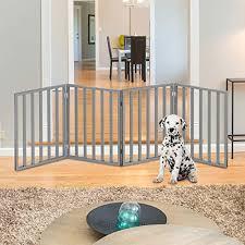 Petmaker 80 62875 G4 Wooden Pet Gate Foldable 4 Panel Indoor Barrier Fence Freestanding Lightweight Design For Dogs Puppies Pets 72 X24 Gray Paint 72 X 24 Walmart Com Walmart Com