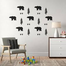 Zoomie Kids Bear Forest Wall Decal Wayfair